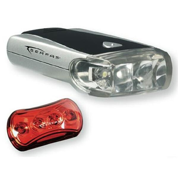 Serfas CP-100 Head Light/Tail Light Combo Bicycle Lights