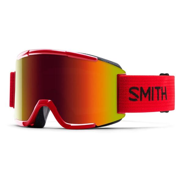 Smith Squad Snow Goggles With  Red Sol X Lenses