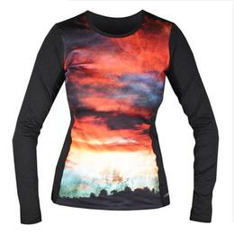 Hot Chillys Women's Print Chamois Crewneck