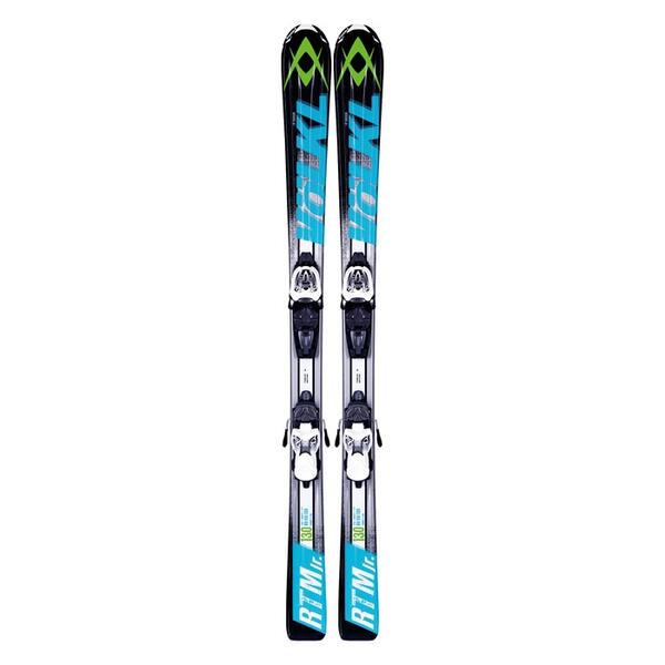 Volkl Boy's RTM Jr All Mountain Skis with 3Motion 7.0 Bindings '14