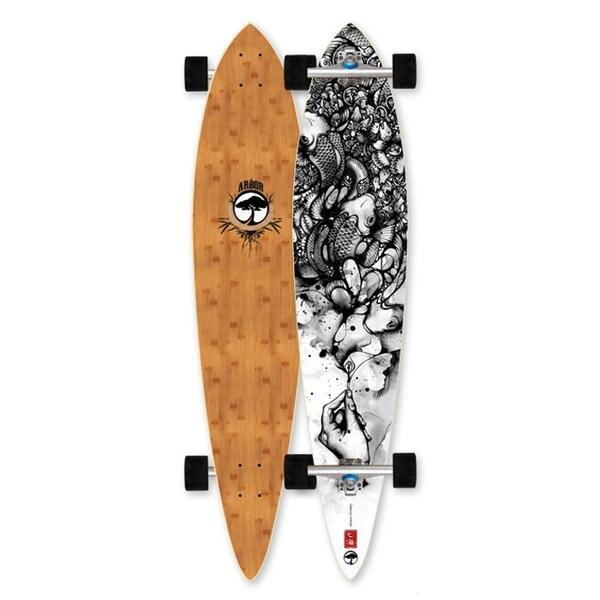 Arbor Timeless Pin Bamboo Carver Complete Longboard