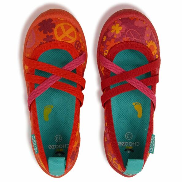 Chooze Girl's Fresh Spin World Peace Ballet Flats