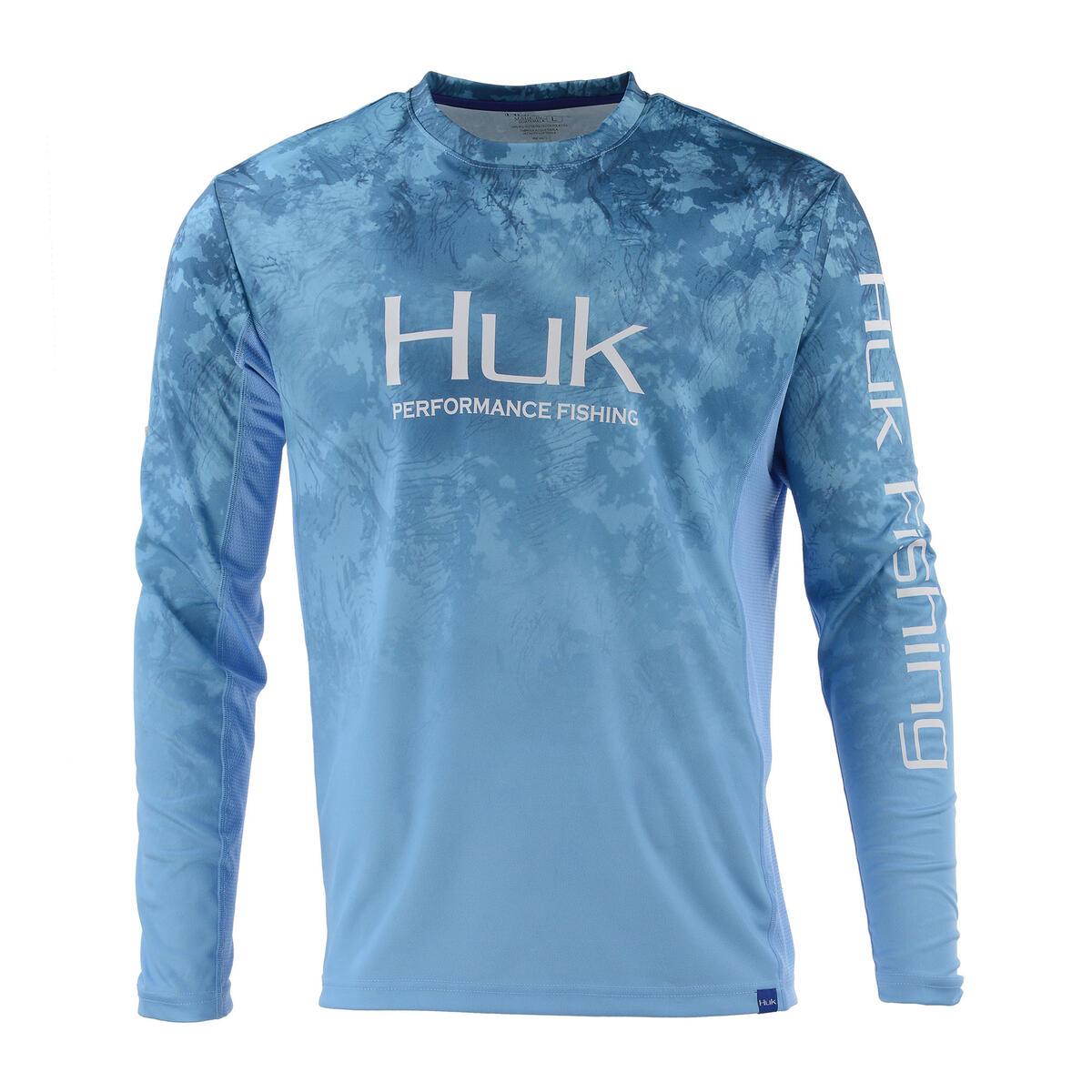 huk men 39 s huk icon camo fade long sleeve t shirt sun ski sports. Black Bedroom Furniture Sets. Home Design Ideas