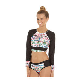 Gossip Jr Girl's Tropical Matrix Rashguard