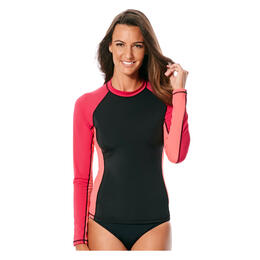 Front of JAG Sport Women's Precision Solids Pull On Rashguard