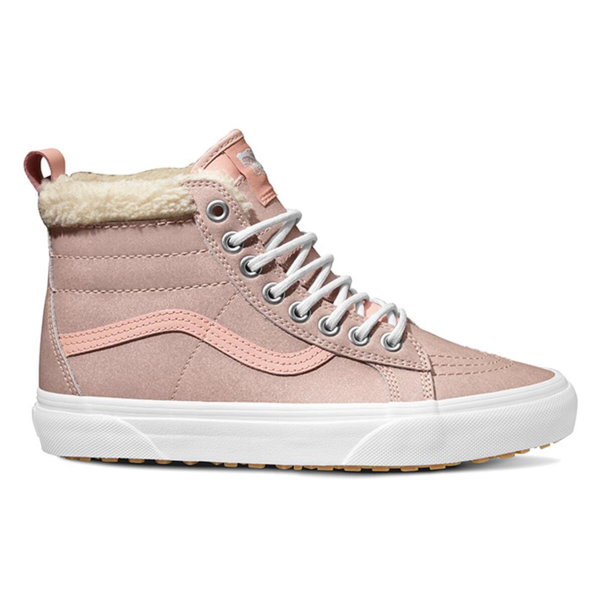 Van Women S Sk8 Hi Mte Metallic Soft Pink Shoes Sun