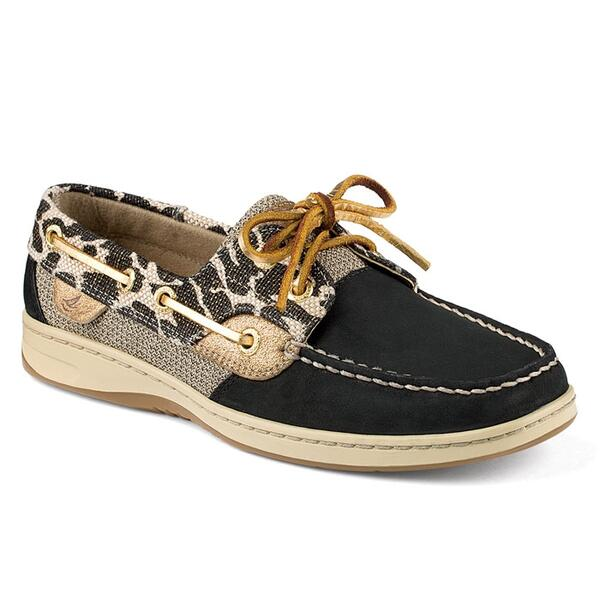 Sperry Women's Bluefish 2-eye Shimmer Leopard Casual Shoes