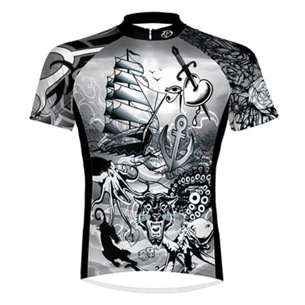 Primal Wear Men's Tattoo'd Cycling Jersey