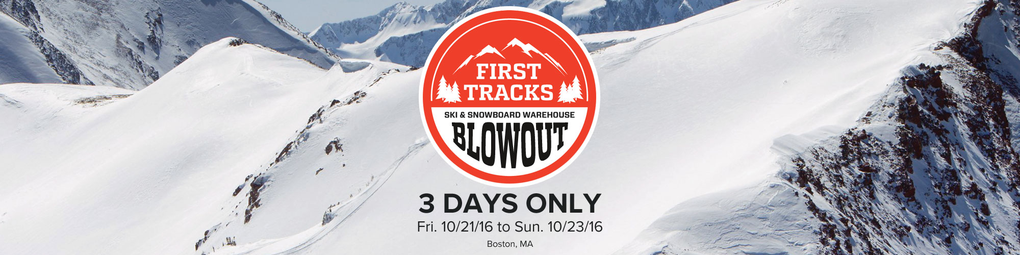 First Tracks Boston - Ski and Snowboard Blowout
