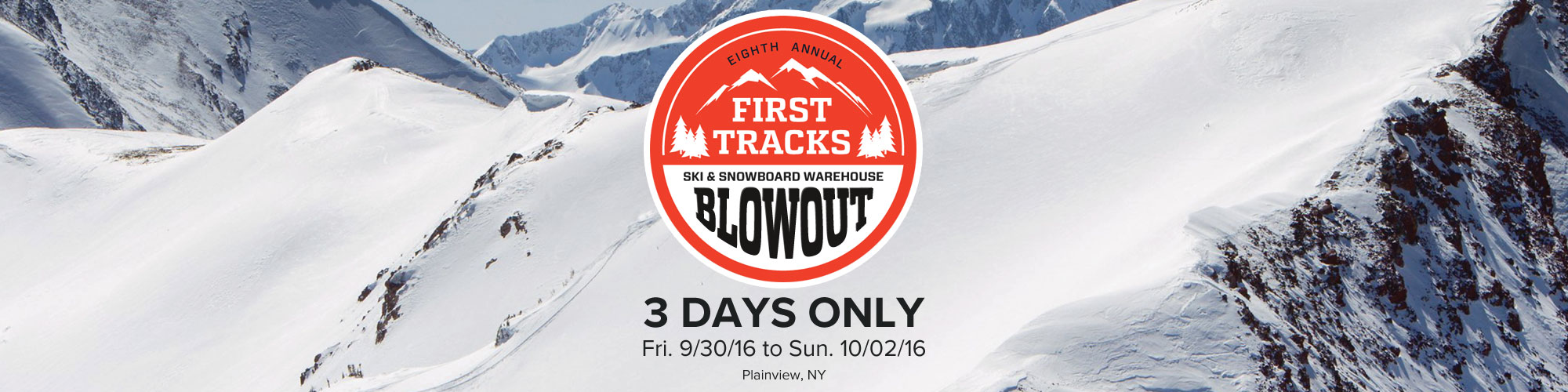 First Tracks Ski & Snowboard Blowout - Plainview, NY