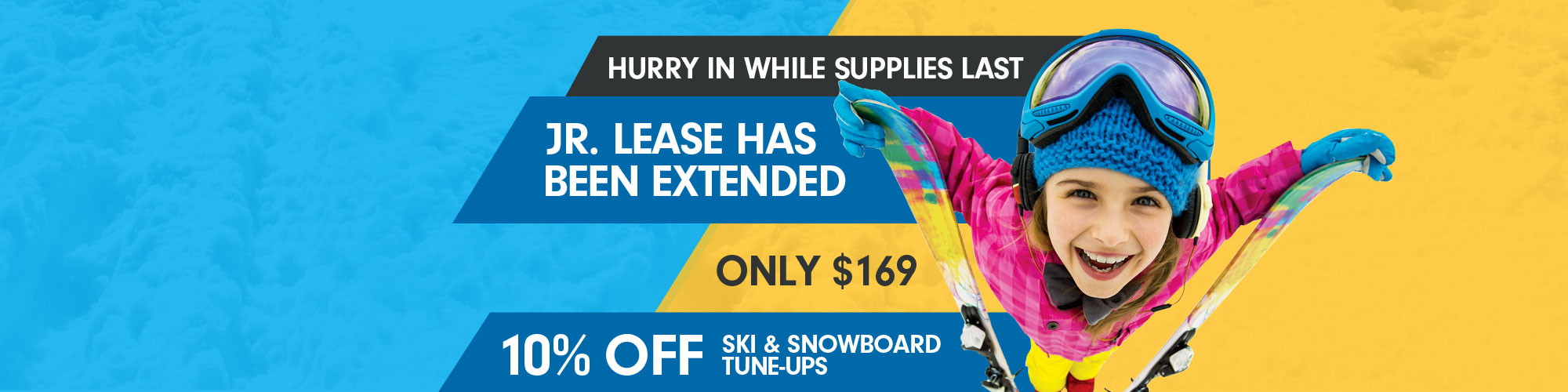 Our Jr. Lease has been extended. Only $169
