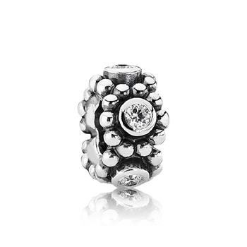 342928-PANDORA Her Majesty with Clear CZ Spacer