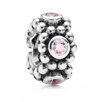346988-PANDORA Her Majesty with Pink CZ Spacer