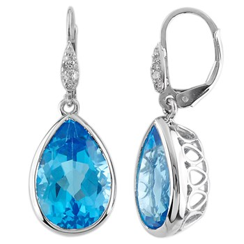 Swiss Blue Topaz Earrings-341590