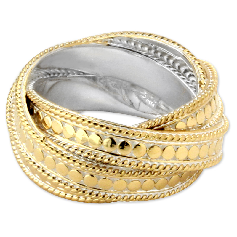 345284-Anna Beck Gold Wire Rimmed Wrap Ring