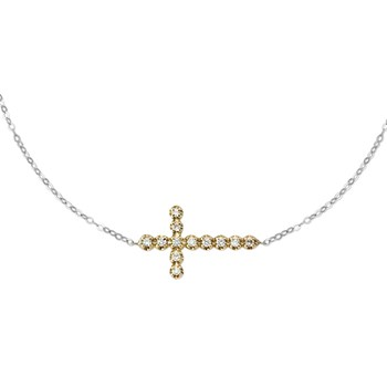 160-267-Alex A Diamond Cross Necklace