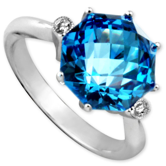 343624-Blue Topaz and Diamond Ring