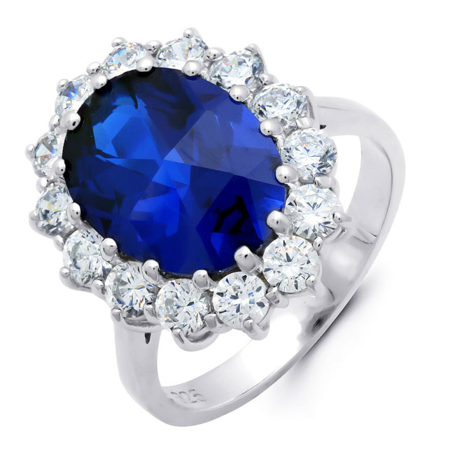 -Sapphire CZ Ring LIMITED QUANTITIES!
