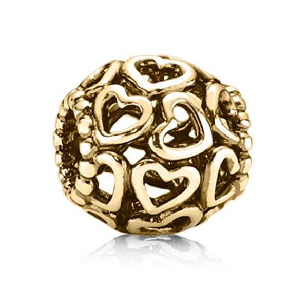 340135-PANDORA 14K Open Your Heart Charm