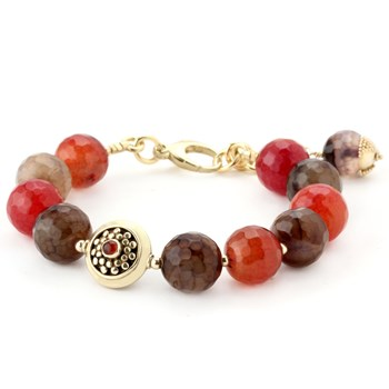 Lollies Red Agate Bracelet 344511