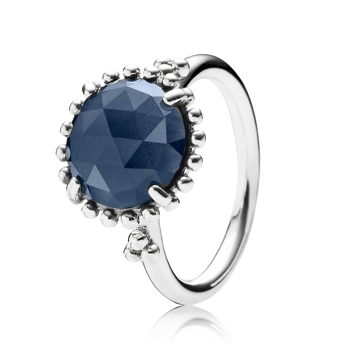 PANDORA Midnight Star with Midnight Blue Crystal Ring