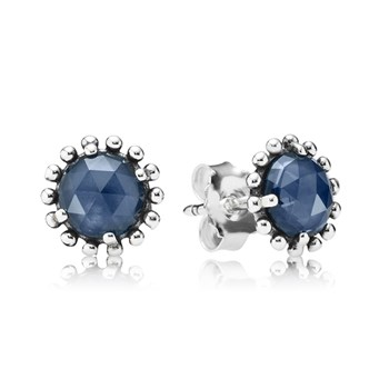 PANDORA Midnight Star with Midnight Blue Crystal Stud Earrings-348117
