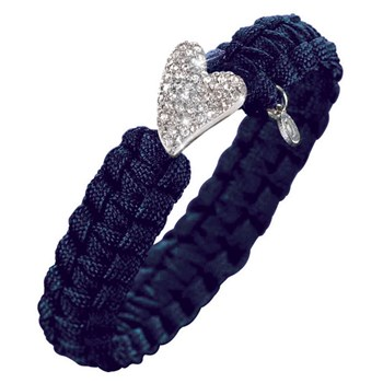 Soldier Navy Bracelet w/Silver Bling Heart Clasp ONLY 4 LEFT!