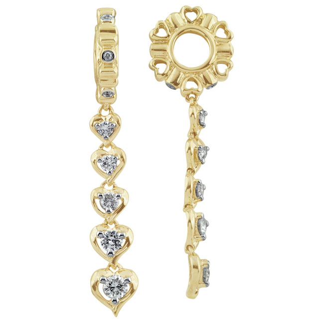 285537-Storywheels Diamond Journey Dangle 14K Gold Wheel ONLY 3 AVAILABLE!