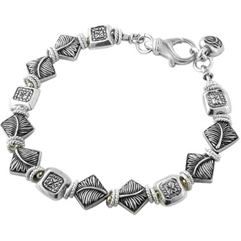 238076-Leaf Print & Antique Stamp Bracelet