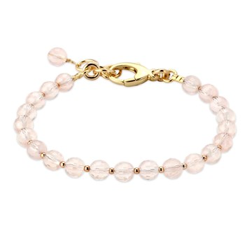 344955-Lollies Breast Cancer Awareness Rose Quartz Bracelet