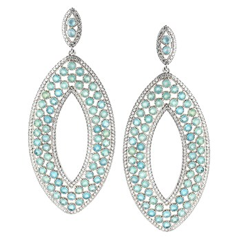 347213-Ocean Chalcedony Earrings