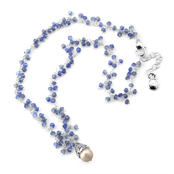 Pearl & Chalcedony Necklace-348506