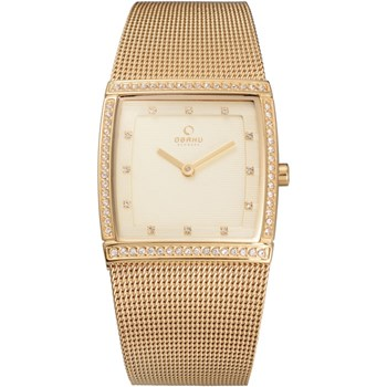Women's Gold Mesh Watch-500-35
