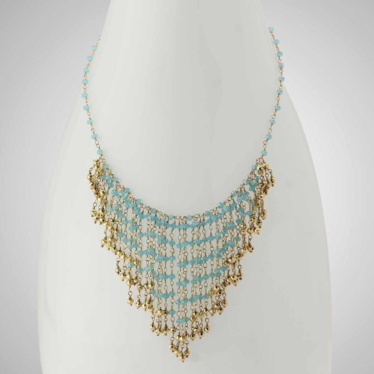 348524-Ocean Chalcedony & Pyrite Necklace