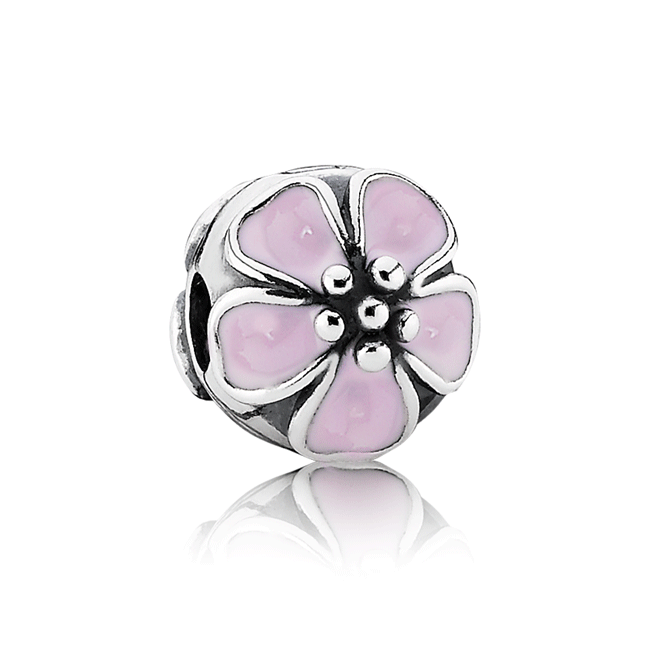 342917-PANDORA Cherry Blossom with Pink Enamel Clip
