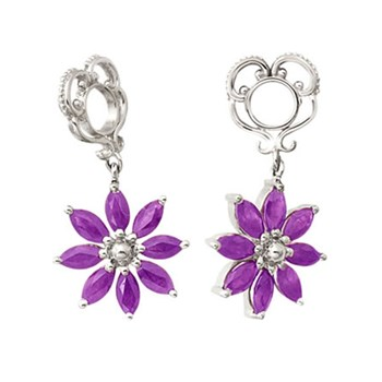 Storywheels Amethyst Poinsettia Dangle 14K White Gold Wheel RETIRED LIMITED QUANTITIES!-271103