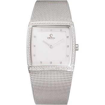 500-36-Women's Silver Mesh Watch