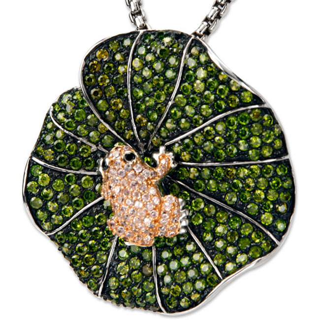 337842-Froggy on a Lilypad Bling Pendant ONLY 1 AVAILABLE