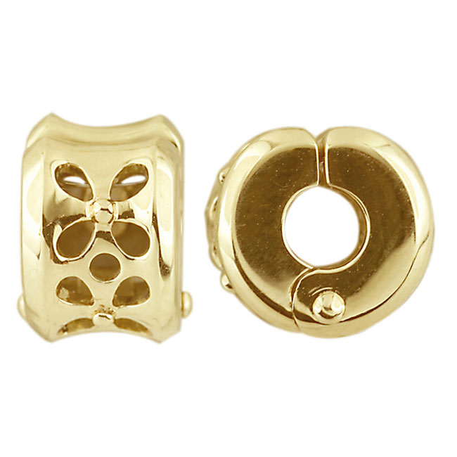275712-Storywheels Petal Cut Out 14K Gold Clip ONLY 1 AVAILABLE!