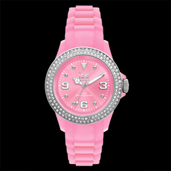 338452-Ice Pink Stone Watch-ONLY 3 LEFT!