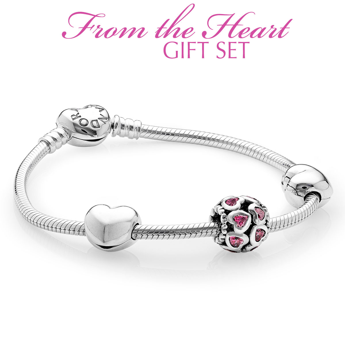 349522-PANDORA From the Heart Bracelet Gift Set LIMITED QUANTITIES!