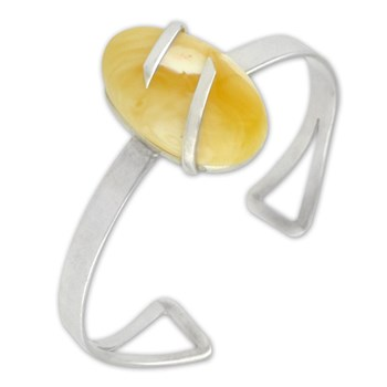 Yellow Amber Bangle-314176