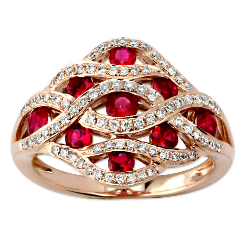 345641-Ruby and Diamond Ring