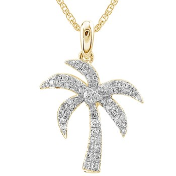 Diamond Palm Tree Pendant-341559