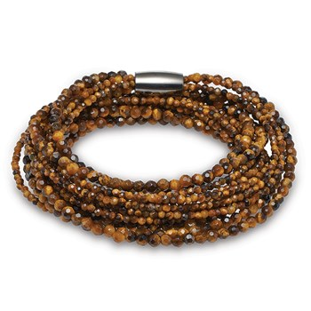 STORY by Kranz & Ziegler 5 Strand Faceted Tiger Eye Bracelet