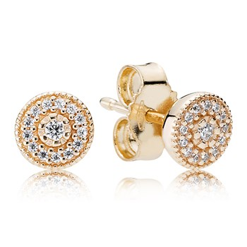 PANDORA 14K Radiant Elegance Earrings