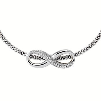 Silver Infinity Necklace-344922