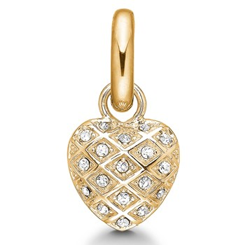 346939-STORY by Kranz & Ziegler Gold Plated Harlequin Heart Charm