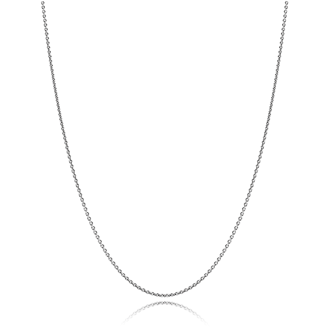 342941-PANDORA Oxidized Sterling Silver Chain with clasp