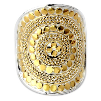 345283-Gold Beaded Saddle Ring